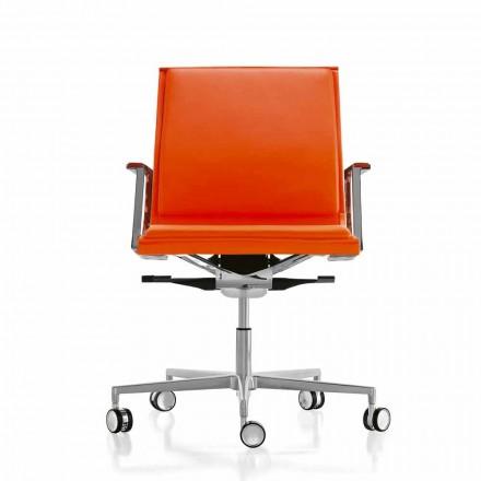 Ergonomische bureaustoel in leer of stof Nulite Luxy