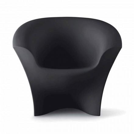 Design fauteuil voor buiten in mat of gelakt polyethyleen Made in Italy - Conda