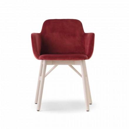 Hoge kwaliteit fauteuil met fluwelen of stoffen zitting gemaakt in Italië - Molde