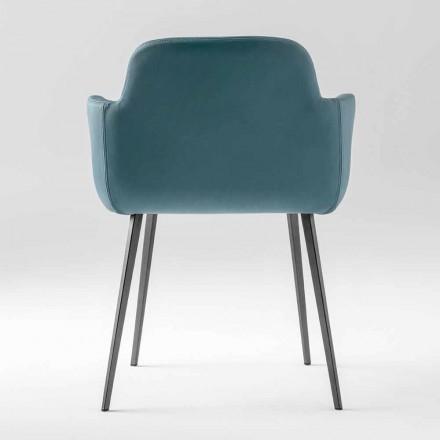 Hoge kwaliteit fauteuil van leer en geverfd metaal gemaakt in Italië - Molde