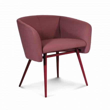 Hoge kwaliteit stoffen fauteuil met metalen onderstel Made in Italy - Bergen