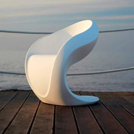 Interne of externe designfauteuil in wit polyethyleen - Petra van Myyour