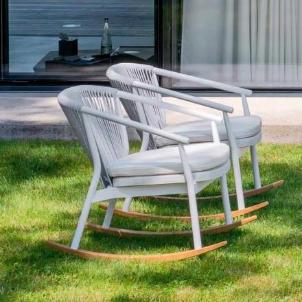 Tuinschommelfauteuil in massief hout en stof - Smart van Varaschin