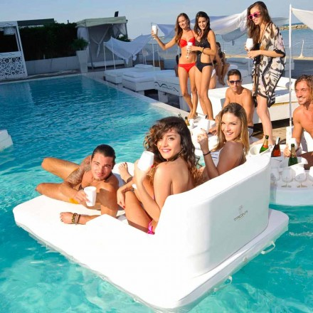 drijvend zwembad stoel in dubbele sessie Trona Magnum