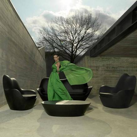 Moderne tuinfauteuil, gemaakt met polyethyleen, Sabinas door Vondom