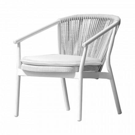 Garden Lounge fauteuil gestoffeerde stof en aluminium - Smart van Varaschin