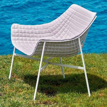 Varaschin Summer Modern Garden Lounge Chair in staal
