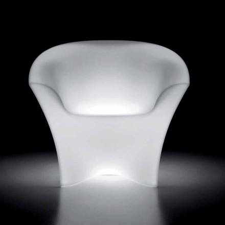 Lichtgevende buitenfauteuil in polyethyleen met LED-licht Made in Italy - Conda