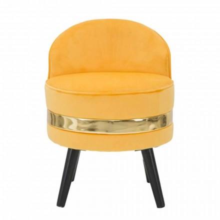 Modern gekleurde mini fauteuil in hout en stof - Koah