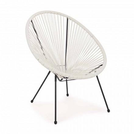 Modern design fauteuil voor buiten in geverfd staal - sprankelend