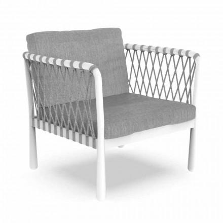 Moderne buitenfauteuil in aluminium en stof - Sofy by Talenti