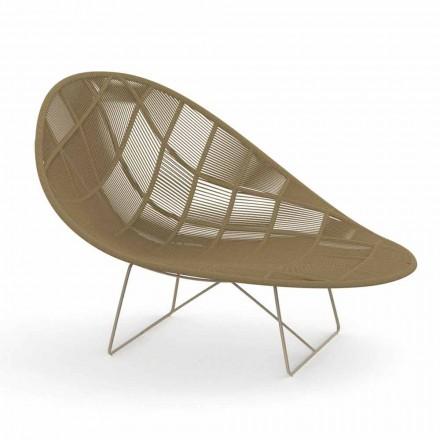 Moderne tuin relaxfauteuil in aluminium en stof - Panama van Talenti