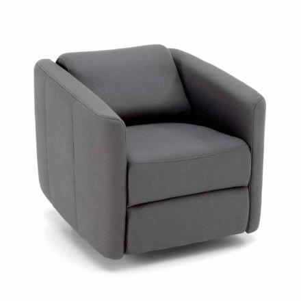 Moderne draaibare ligstoel in kunstleer - Magalotti