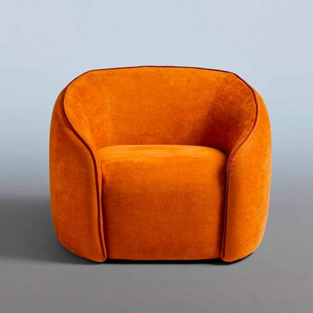 Relax fauteuil modern design gemaakt in Italië in gekleurde stof - Baloo