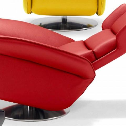 Gemotoriseerde draaifauteuil ontspannen 2 motoren Italiaans design Bao