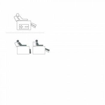 Gemotoriseerde draaifauteuil ontspannen in stof / leder / kunstleer Gemma