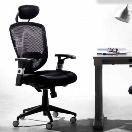 Directionele en operationele roterende moderne zwarte stoel - Simona