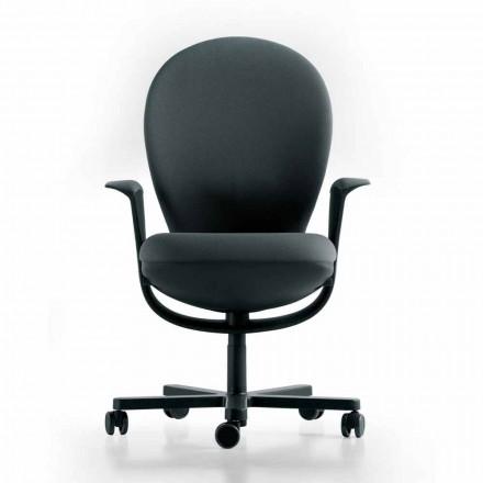Executive ontwerp bureaustoel Bea, zitting grijs Luxy