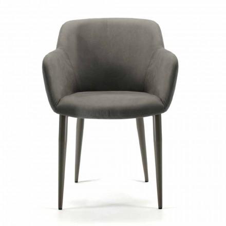 Lounge stoel gemaakt van stof of leer Italië, 4 stuks - Bardella