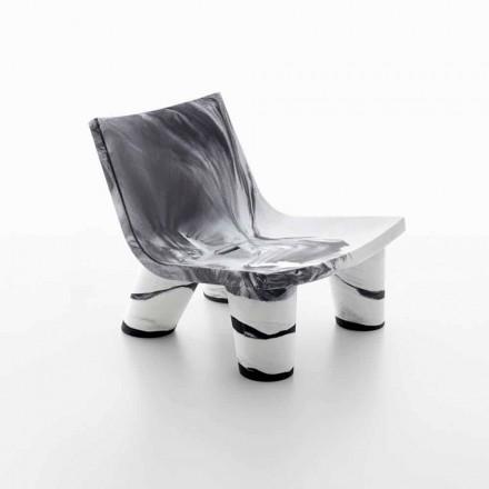 Witte en zwarte outdoor loungestoel Slide Low Lita Anniversary