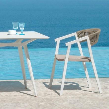 Zeer belangrijke lunch stapelbare zetel voor tuin door Talenti met armleuningen