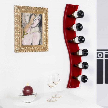 Porta flessen ontwerpermuur L26,5xH100xP9cm Serry rosso