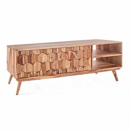 Vintage design houten tv-standaard met stalen Homemotion knoppen - Ventador