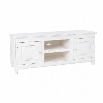 Tv-meubel in klassieke stijl met structuur Homemotion van mangohout - Renga