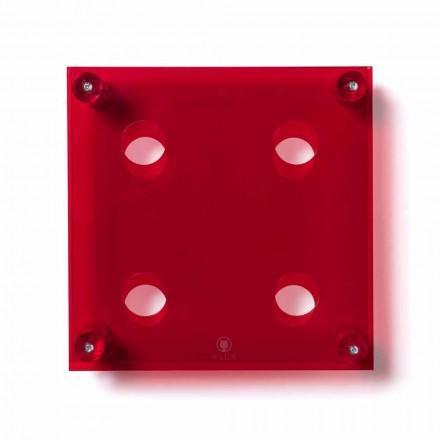 Fles van de moderne rode muur Amin Small L30xH30xP13,6cm