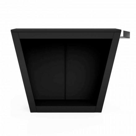 Binnen of buiten brandhout houder van Design met werkblad - Esplanade