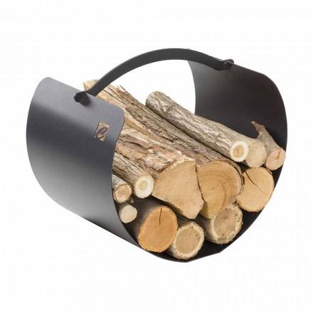Stalen houthouder met hoogwaardig handvat Made in Italy - Espero