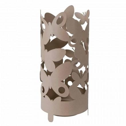 Design paraplubak met ijzeren vlinders Made in Italy - Maura