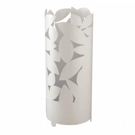 Design paraplubak met ijzeren bladeren silhouetten gemaakt in Italië - Piumotto