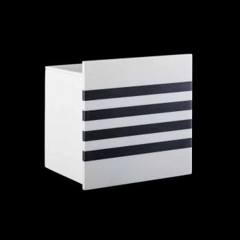Badkamerrolhouder in Corian wit of met zwarte inzetstukken Italiaans design - Elono