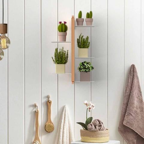 Zia Flora verticale hangende bloempot houder gemaakt in Italië design hout