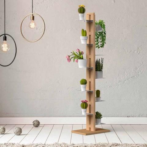 Zia Flora moderne verticale kolom bloempot houder gemaakt in Italië