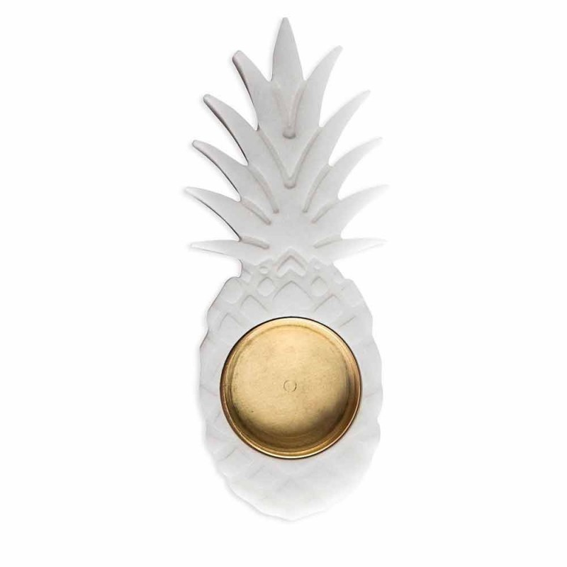 Ananas asbak in wit Carrara marmer gemaakt in Italië - Cenna