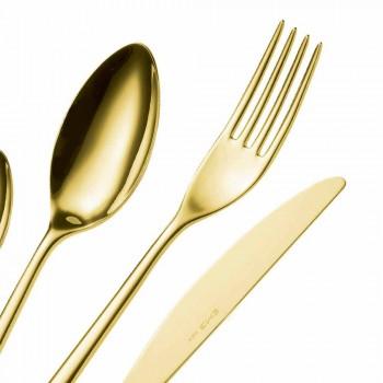24 stuks luxe gepolijst of gezandstraald gekleurd roestvrijstalen bestek - Lapis