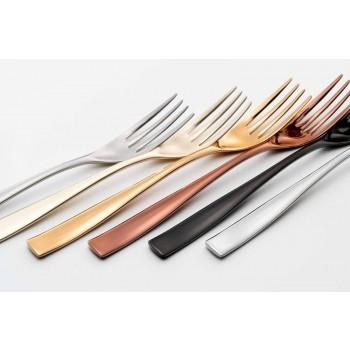 24-delig luxe designbestek in gezandstraald of gekleurd gepolijst staal - timide