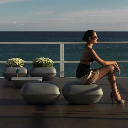 Moden design outdoor poef Kussen door Vondom, in polyethyleen. 67x67 cm