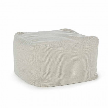 Vierkante buitenpoef bekleed met waterafstotende stof, Homemotion - Lydia