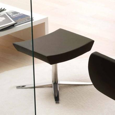 Moderne kantoorpoef in eco-leer en aluminium - Clio
