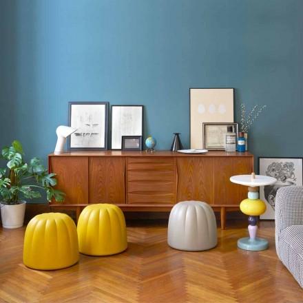 Zacht gekleurde poef Slide Gelee in polyurethaan gemaakt in Italië