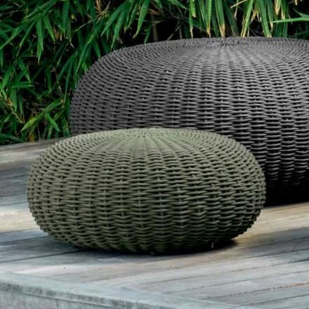 Kleine en ronde poef Jackie van Talenti modern design voor in de tuin