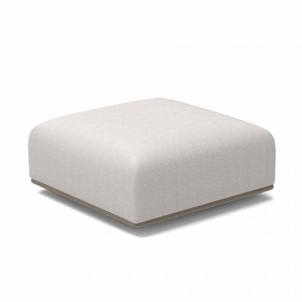 Vierkante design tuinpoef in witte of grijze stof - Scacco van Talenti