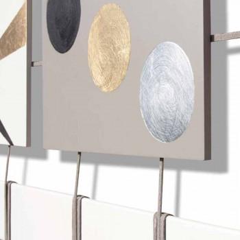 Abstract raamwerk met vijftien panelen opgehangen aan Craig-touwen
