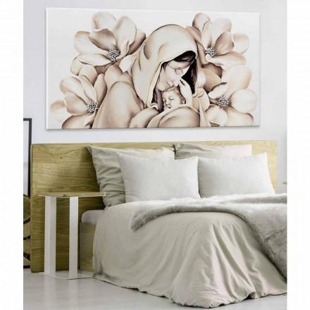 Modern design paneel in reliëf op canvas gemaakt in Italië Sole