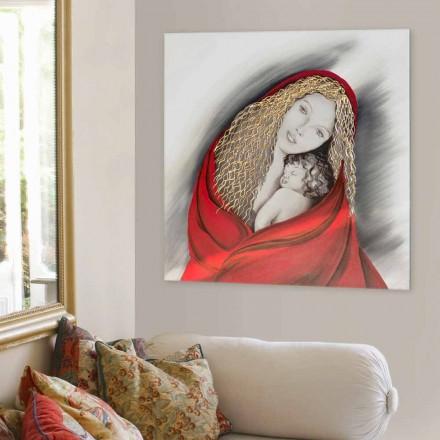 Handgemaakt modern designplaatje Madonna