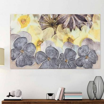 Modern bloemenraamwerk met met de hand versierde Ramos-bloemblaadjes