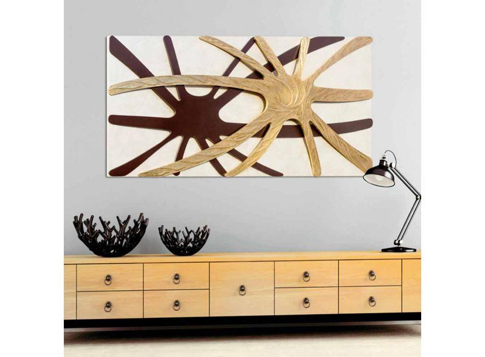 Abstract modern rechthoekig paneel met een Chad parelmoer paneel